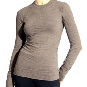 Athleta Cableknit Remarkawool Beige Long Sleeve, S